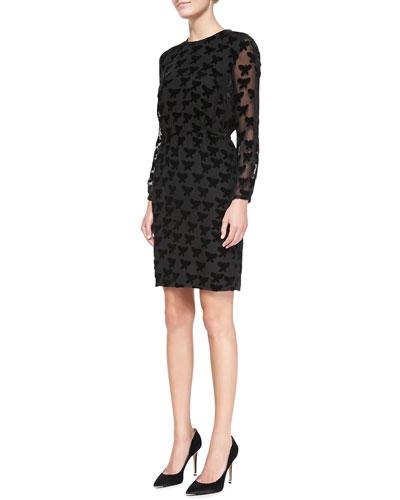 Long-Sleeve Easy Butterfly Dress