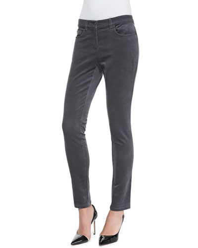 Corduroy Skinny Stretch Jeans, Petite
