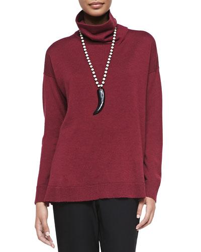Merino Wool Long-Sleeve Turtleneck, Women's