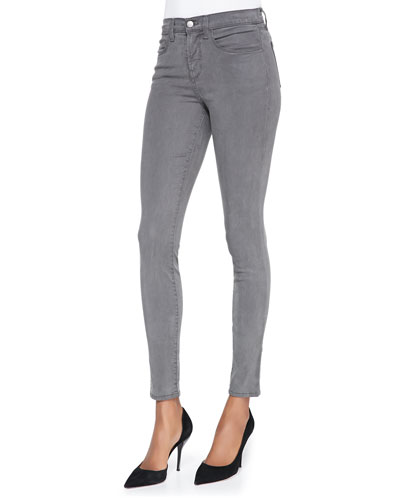 485 Mid-Rise Sateen Skinny Pants, Armour