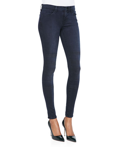 Willow Verve Trapunto-Knee Skinny Jeans