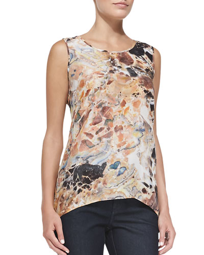 Lucy Sleeveless Printed Top