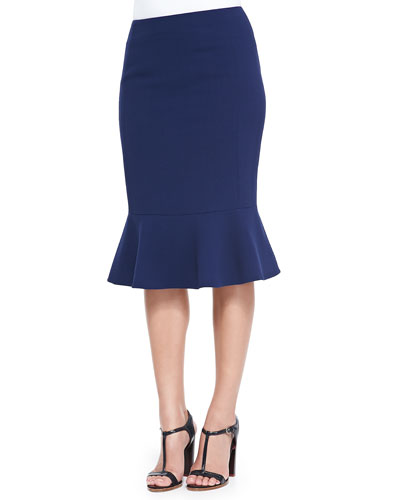 Kayline Peplum-Hem Pencil Skirt