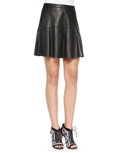 Ibiza Leather A-Line Skirt