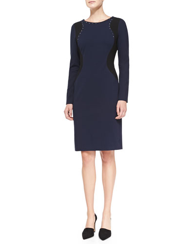 Portia Long-Sleeve Contour Sheath Dress