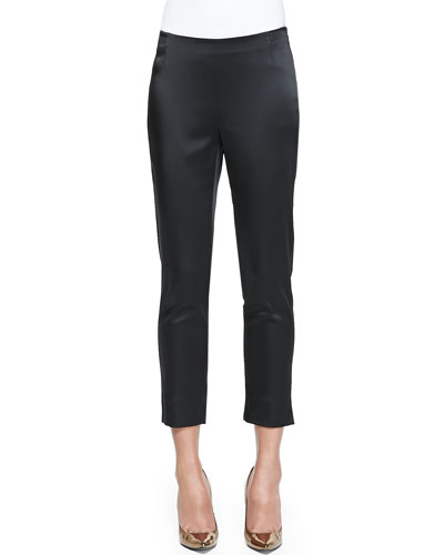 Stanton Satin Stretch Cropped Pants