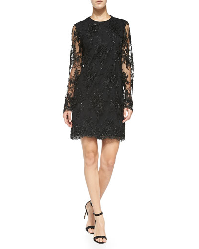 Camille Beaded Lace Dress