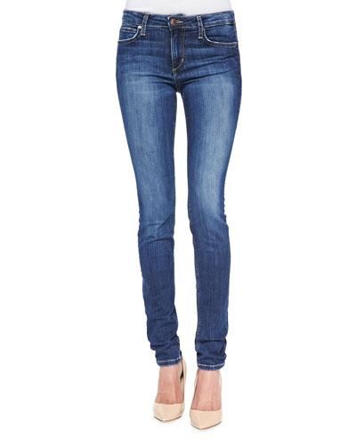Lindz Mid-Rise Skinny Jeans, Medium Blue