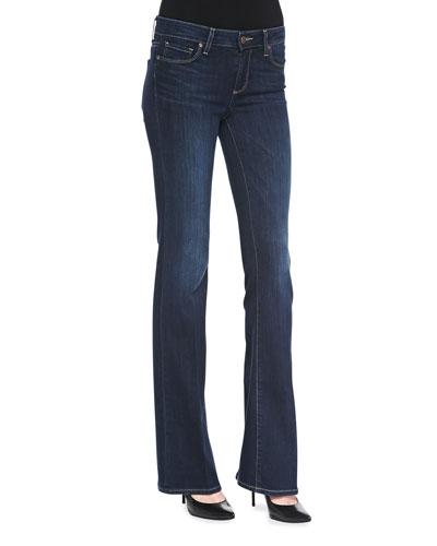 Skyline Boot-Cut Denim Jeans, Verona