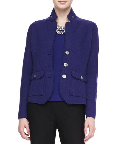 Double-Knit Felt Jacket, Women's