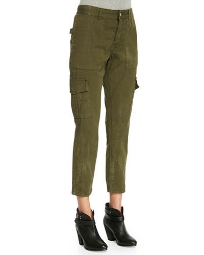 Eliot Militaire Cropped Cargo Pants