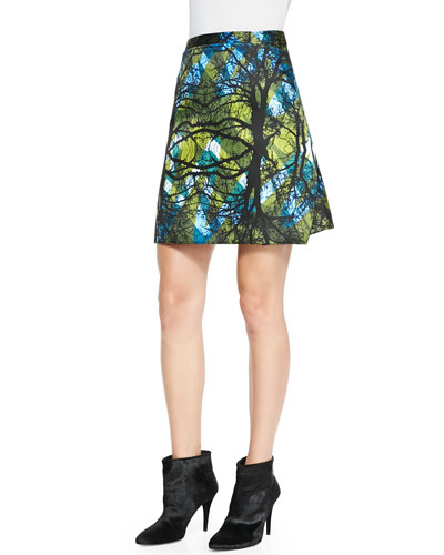 Greenwoods Printed A-Line Skirt