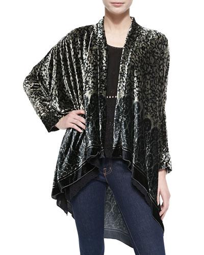 Morra Printed Velvet Jacket