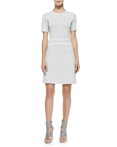 Abreena Patterned A-Line Dress