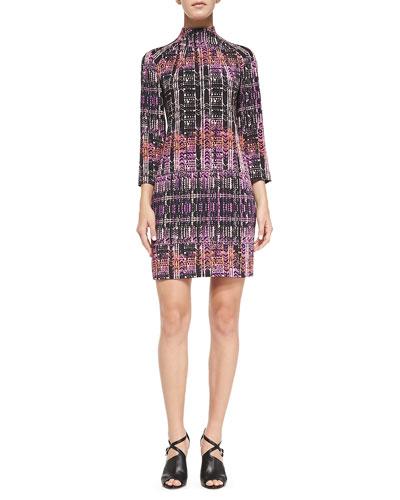 Handloom Print Short Dress