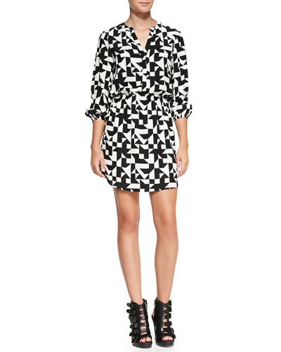 Robin 3/4-Sleeve Printed Dress
