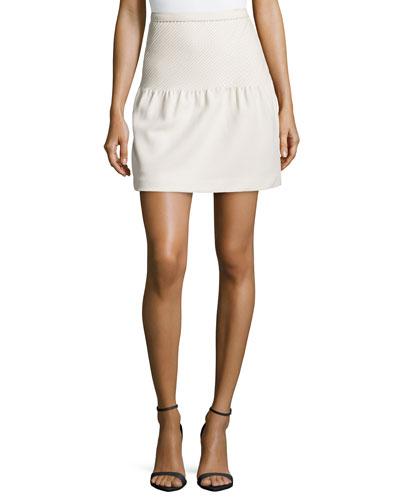 Pintucked Ruffled Tulip Skirt, Shell