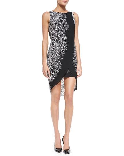 Audra Sleeveless Dress w/ High-Low Scissor Hem