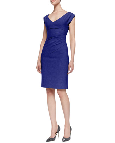 Bevin Gathered Suiting Dress