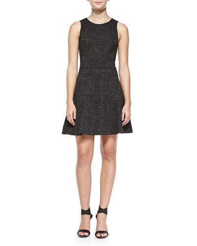Glynnis Sleeveless Leopard-Print Dress