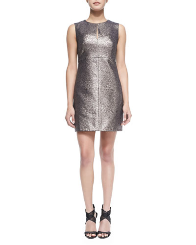 Yvette Metallic/Solid Fitted Dress