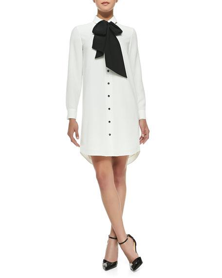 7eafb90fd88 kate spade new york griffin silk tie shirttail dress