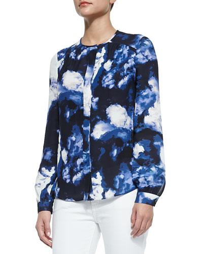 dusk clouds crepe blouse