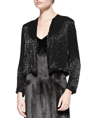 Kevin Sequined Cropped Evening Jacket