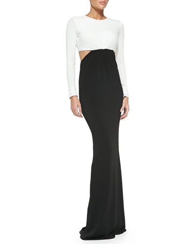 Vera Two-Tone Cutout Maxi Dress