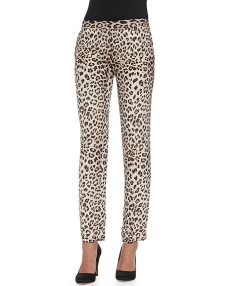b53575524119 Haute Hippie Silk Leopard-Print Trousers
