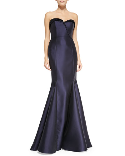 Strapless Ball Gown, Navy
