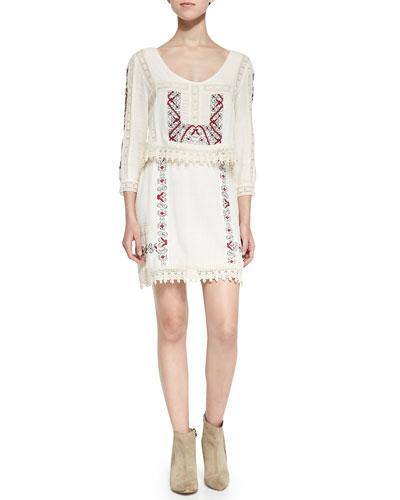 Twice As Nice Filigree Crochet Dress