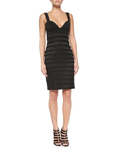 Tacoma Tonal-Stripe Sheath Dress