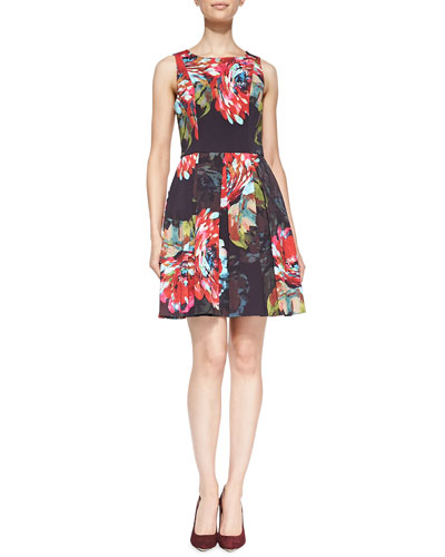Hanna Sleeveless Floral A-Line Dress