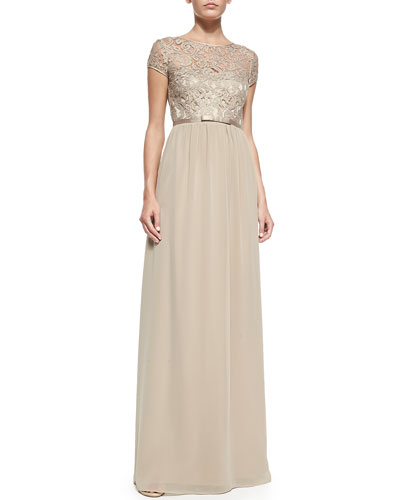 Peyton Lace Chiffon Gown