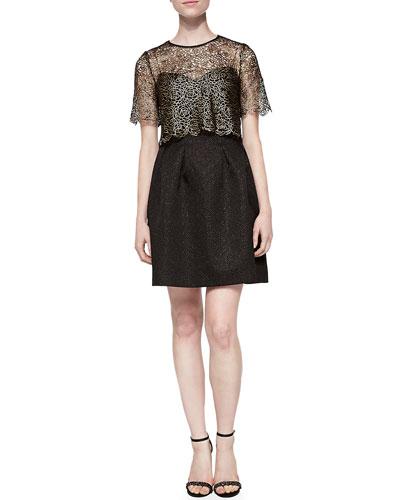 Addison Mosaic Jacquard Dress