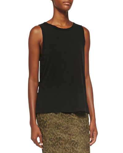 The Muscle Tee, Black