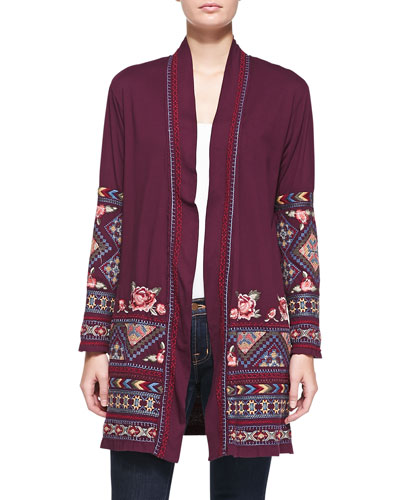 Jody Open Embroidered Duster