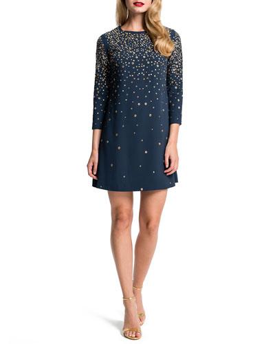 Honor Galaxy-Print Shift Dress