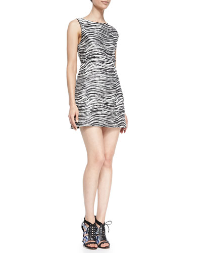 Everleigh Sleeveless Metallic Dress