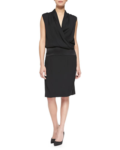 Contra Sleeveless Draped Blouson Dress