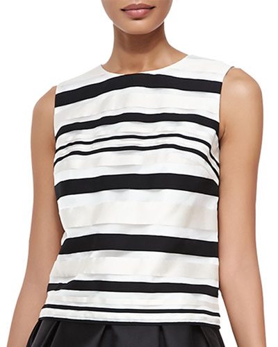 Fern Sleeveless Striped Top