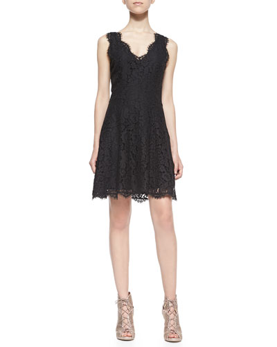 Nikolina Sleeveless Lace A-Line Dress