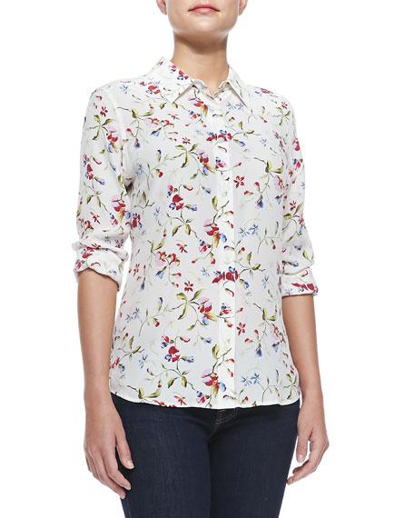 595a8b3b896b14 Equipment Brett Floral-Print Silk Blouse