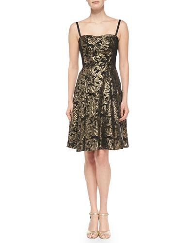 Spotlight Metallic Jacquard Dress