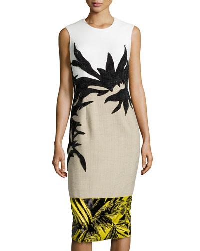 Botany Applique Combo Dress, Jasmine