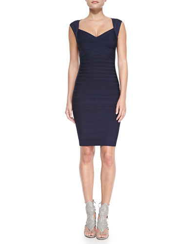Sarai Signature Sweetheart-Neck Bandage Dress