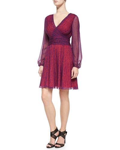 Ashlynn Printed Fit & Flare Dress