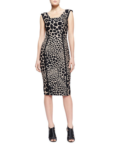 Animal-Print Fitted Dress