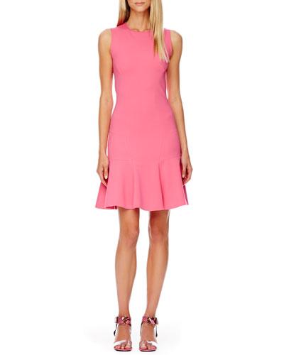 FLARE Flare-Skirt Dress, Carnation